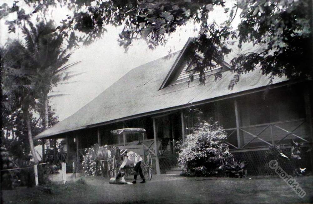 Sugar Planters. American colonialism. Farmhouse Kauai, Hawaii. Superintendent Home.