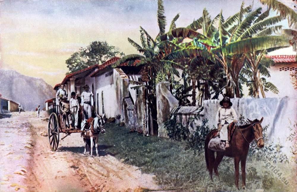 Isla de la Juventud. Cuba Nueva Gerona. Caribic islands. American colonialism. Creole costumes.
