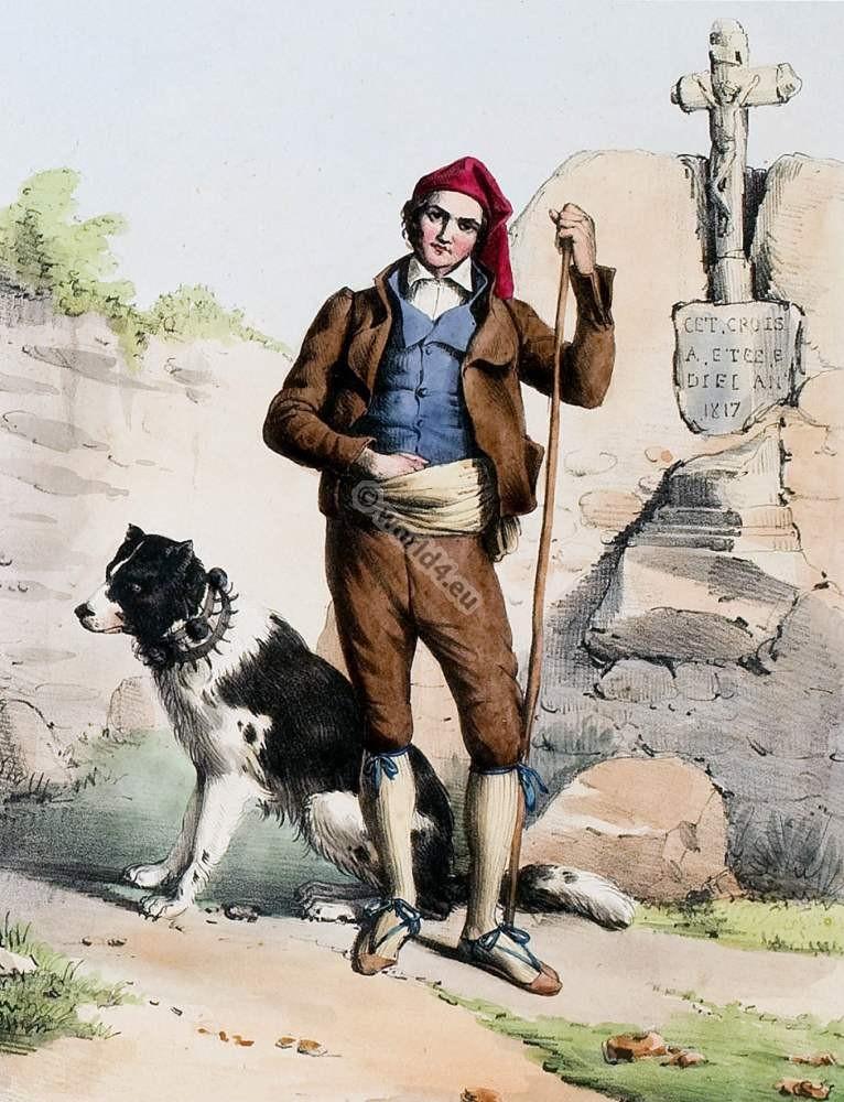 france,Traditional,costume,Aranais,Pyrenees,Bagnéres,Luchon,Costumes des Pyrénnées,folk,dresses,
