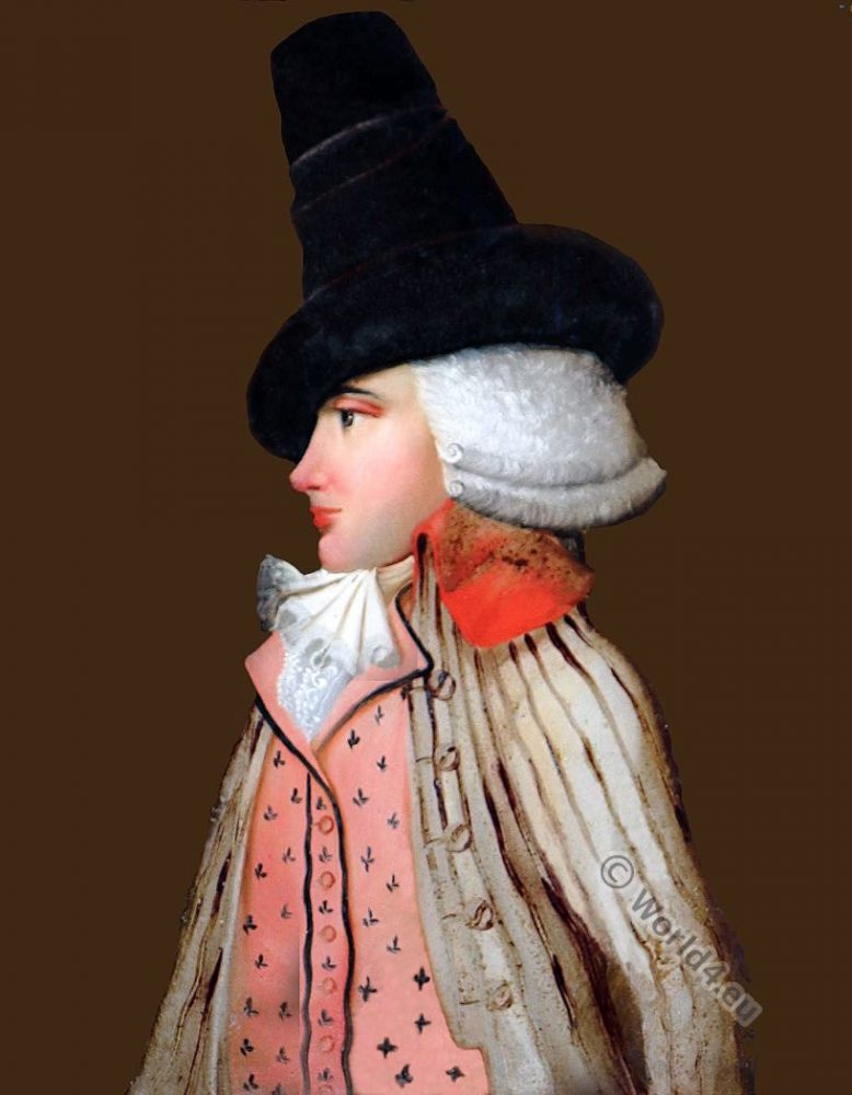 Incroyable, Directoire, 18th, century, costume, Dandy, revolution, france