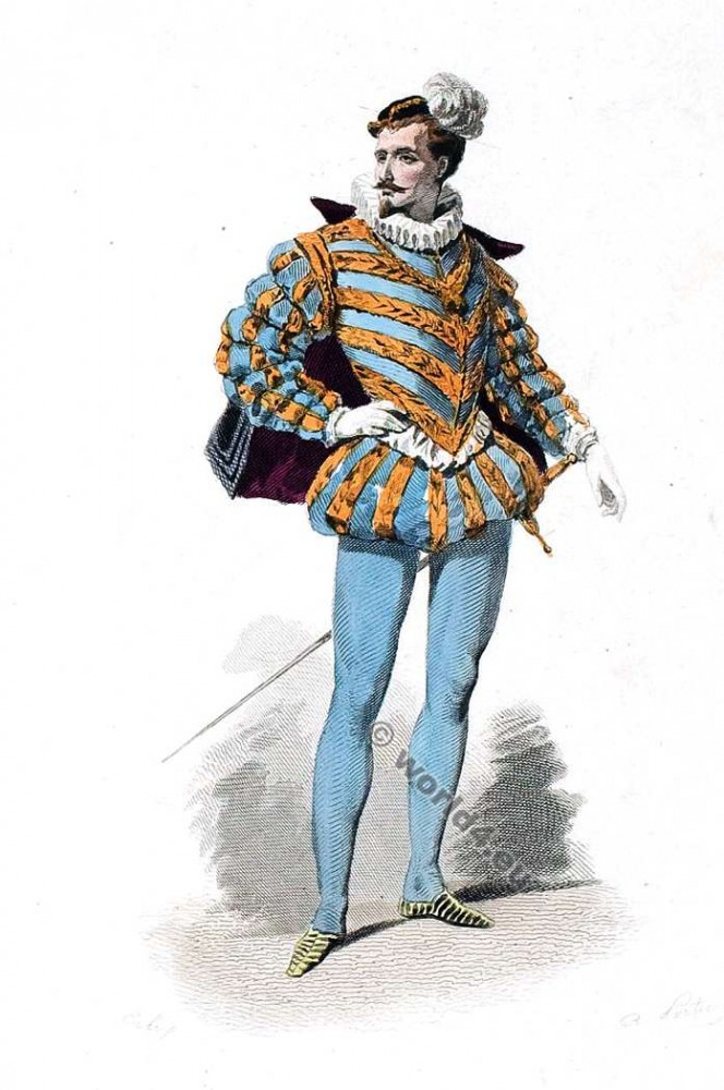 16th century fashion. Cour de Henri III costume. Renaissance costumes. Authentic court dresses