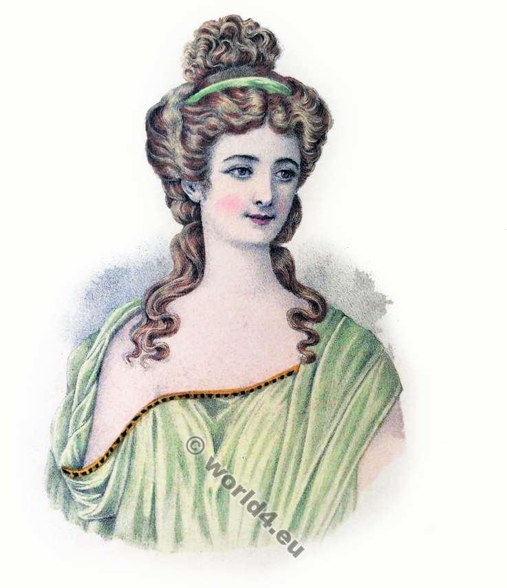 Coiffure Grecque antiquité. Ancient Greek hairstyle. Albums de coiffures historiques.