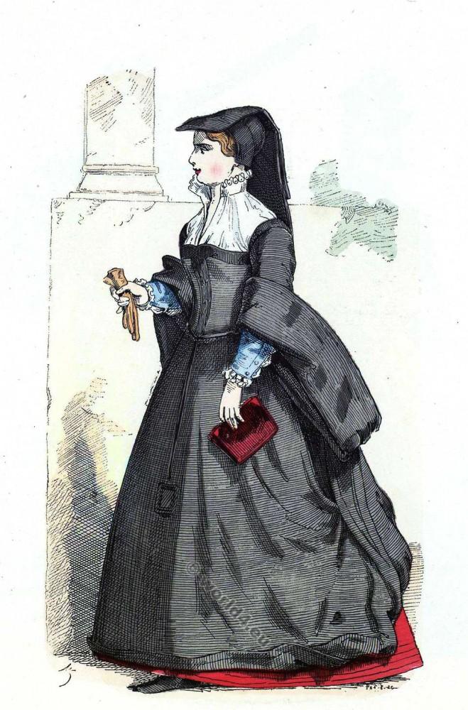 Bourgeoise, Paris, Histoire, mode, Renaissance, 16ème siècle, costume,