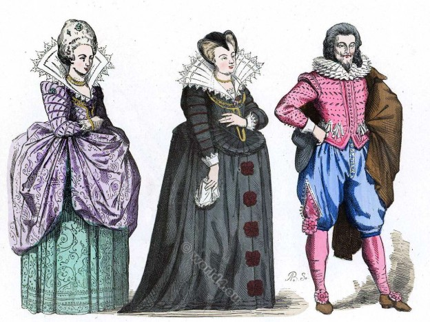 French, Court, Lady, Marie, de Medici, widow, Baroque, costumes