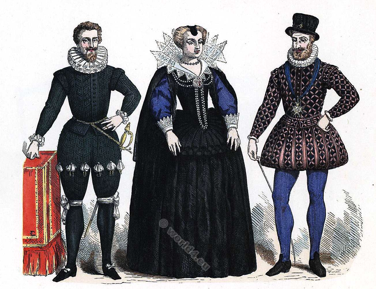 Henry IV, Renaissance, fashion, costumes
