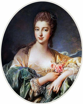 Pompadour, Mistress, Louis XV,  Rococo, fashion,