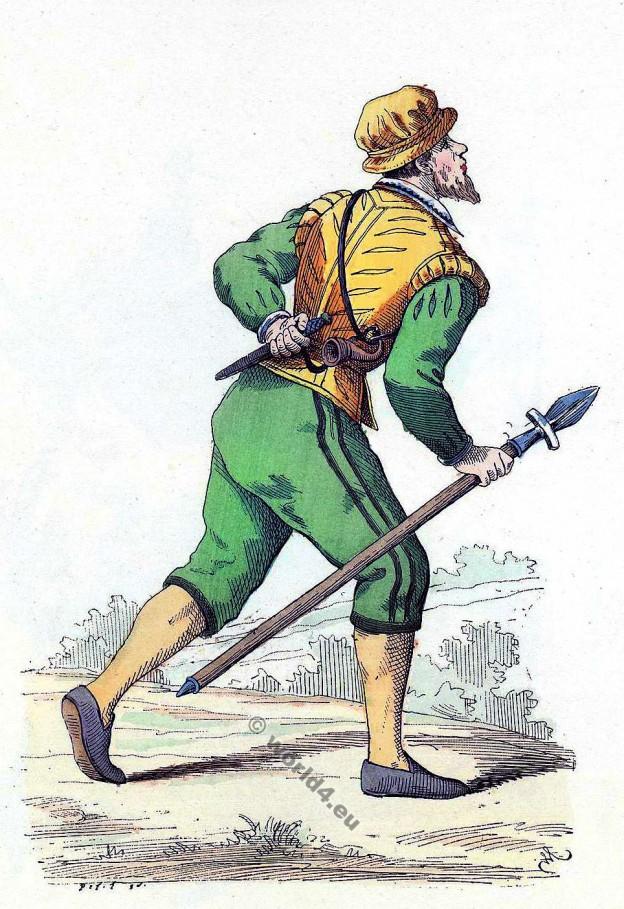 Veneur. Histoire de la mode baroque. 16ème siècle costume.