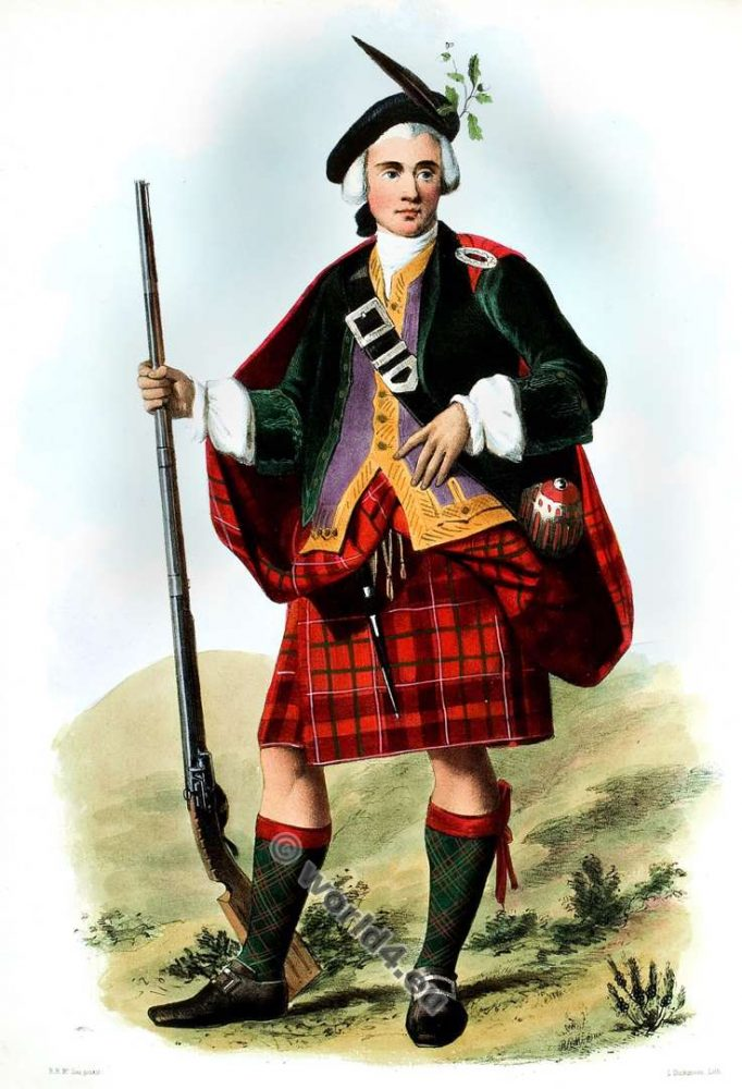 Na Camshroinaich. The Camerons. Clan. Tartan. Scotland national costume. Clans of the Scottish Highlands.