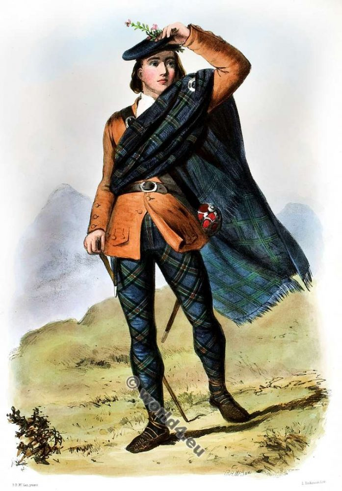 The Colquhons. Clan. Tartan. Scotland national costume. Clans of the Scottish Highlands.