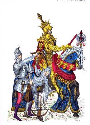 Chevaliers du Moyen Age. Vêtements du 15ème siècle. Chevaliers du Moyen Age.