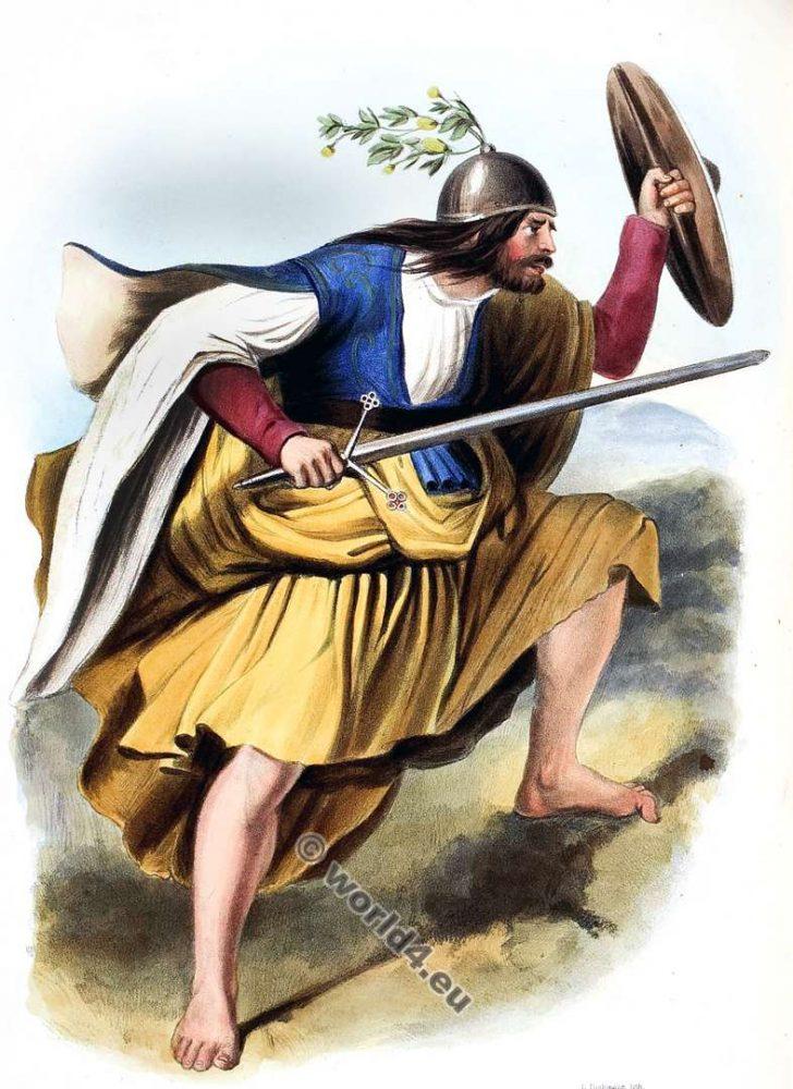 Fergus, Mac Fhearghas, or Fergusons. Clan. Tartan. Scotland national costume. Clans of the Scottish Highlands.