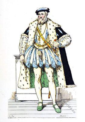 François de Lorraine duc de Guise. French general .16th century. Renaissance fashion
