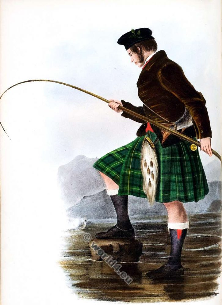 Na Gordonih, The Gordons. Clan. Tartan. Scotland national costume. Clans of the Scottish Highlands.