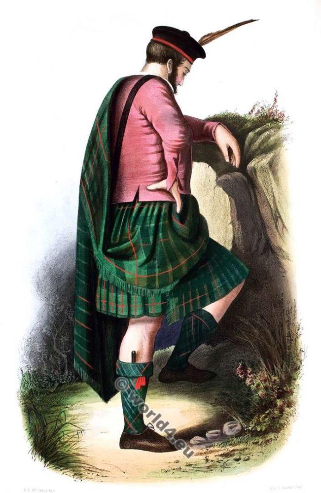 Clan Nan Guinnaich or Gunns. Tartan. Scotland. Clans of the Scottish Highlands.