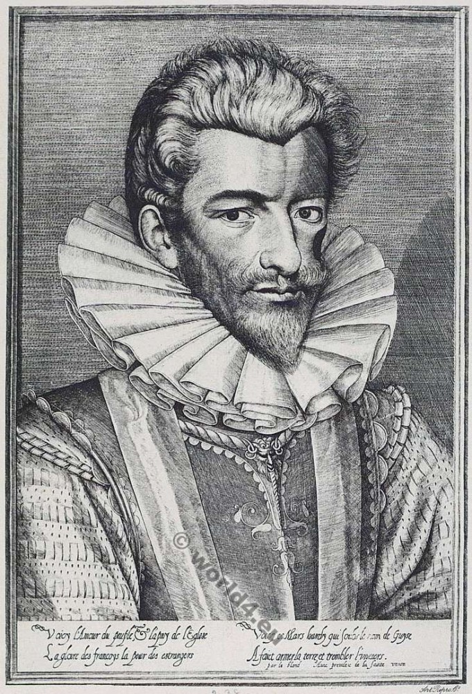 Henri de Lorraine, Du de Guise, Le Balafré, 16th century, Baroque, French, nobility, Huguenot, war,