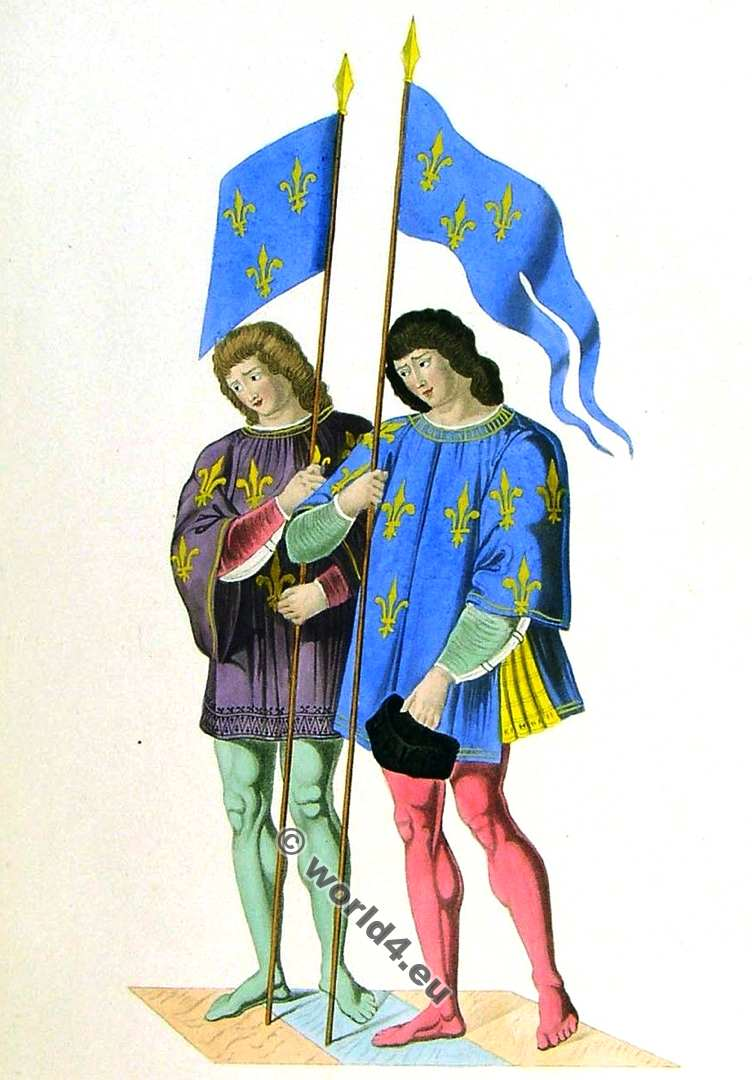 Heralds, clothing, 15th century, costumes, Middle ages, fashion,