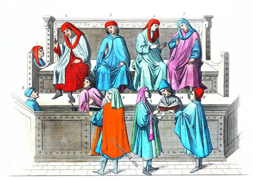 Merchant Court, Medieval, Burgundy, costume, Middle ages, clothing