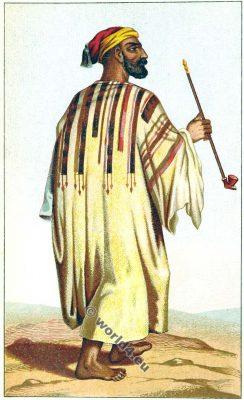 Traditional Palestine costume. Bethlehem costume. Israel. Jewish clothing.