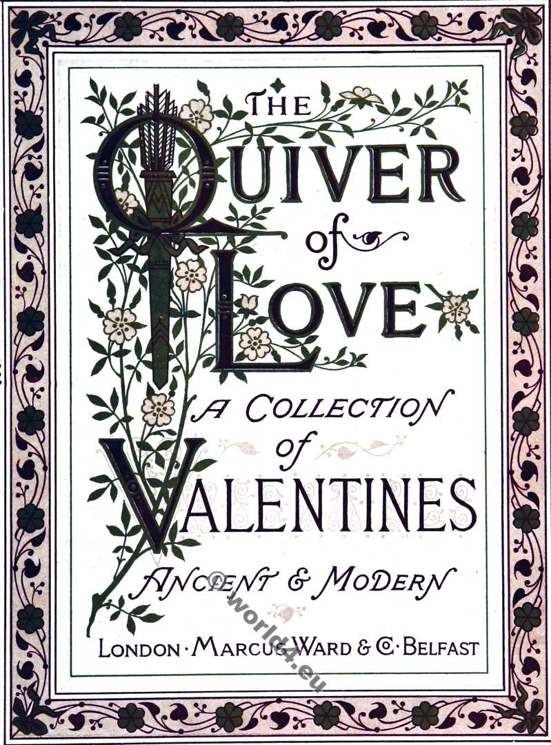 Quiver, Love, Valentines, Illustration, Angels, Amor, Walter Crane, Kate Greenaway,