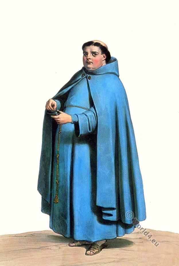 Costume Espagnol. Cordelier de l'ordre de saint François. Achille Devéria. Costumes historiques.