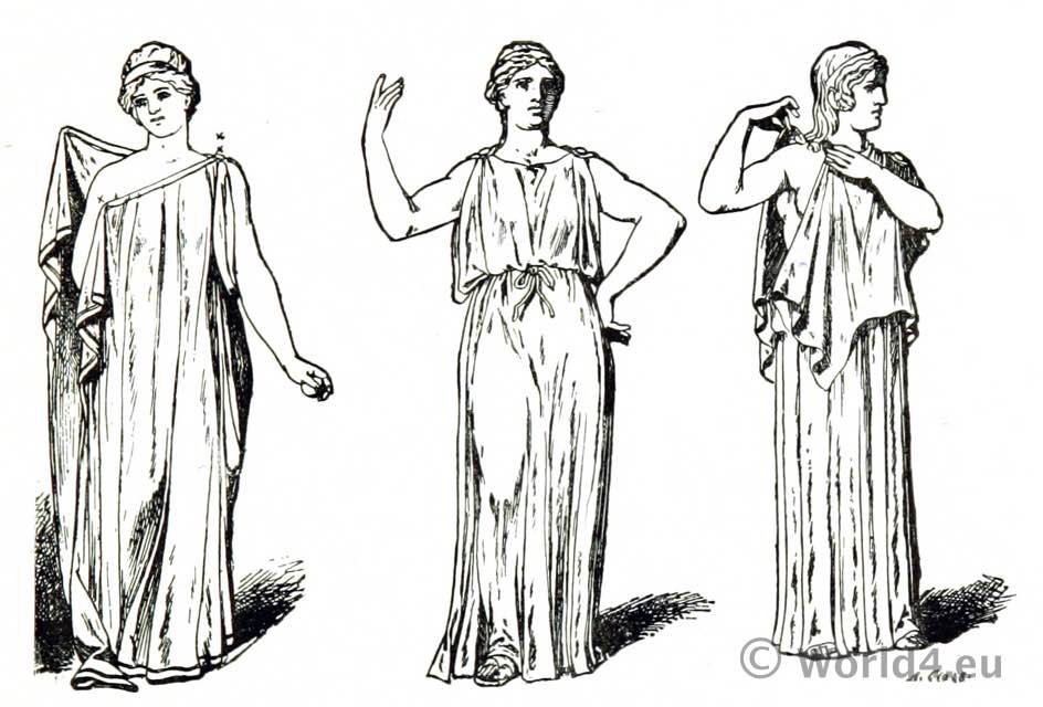 Greek, dress, Ancient, Greece, costume,
