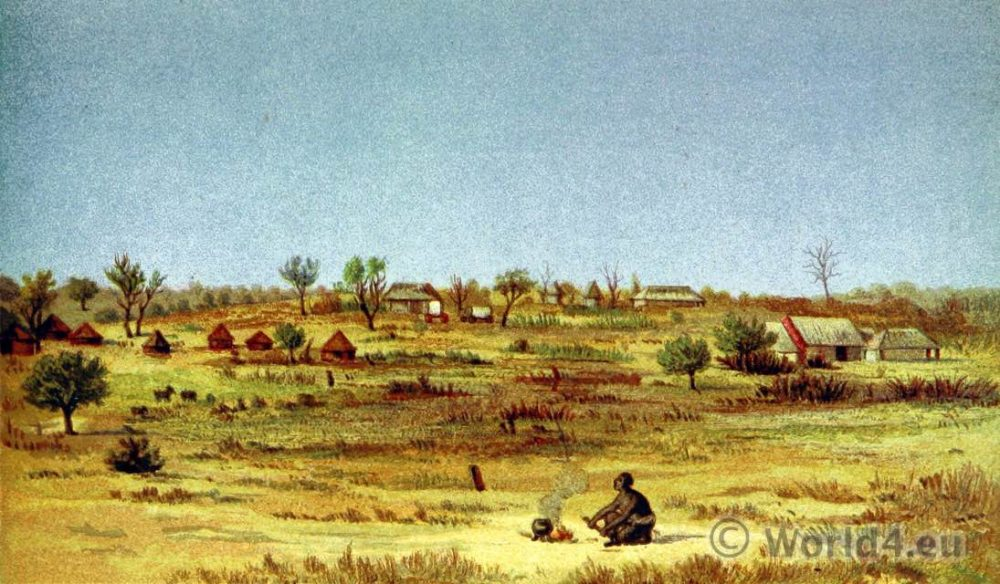 Matabele, Tati, Settlement, Africa, Botswana,South Africa,