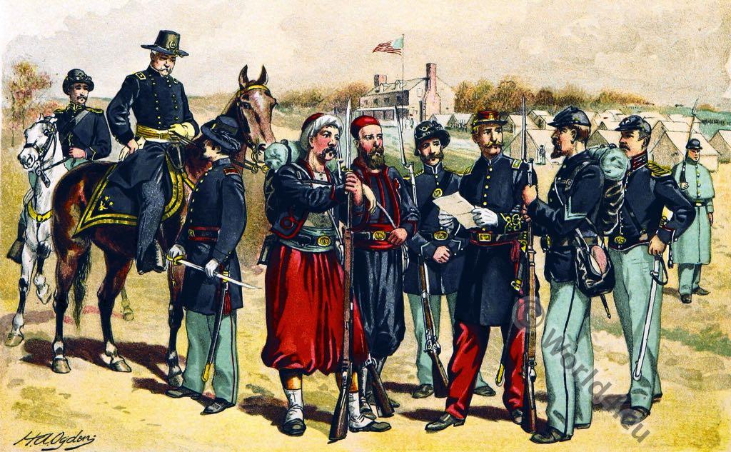 United, States, uniforms, Civil War,