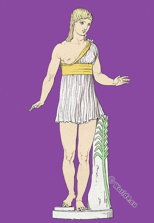 Girls victress, Virgin winner, Vergine Vincitrice. Roman empire. Ancient costume. Roman sculpture.