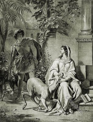 Don Manuel. Beatrice. The Bride of Messina. Friedrich Schiller. German Romantic.