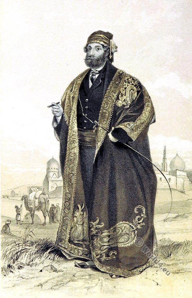 Dragoman, Vincenzo Belluti, Ottoman, empire, costume, Drogman,  tarǧumān,