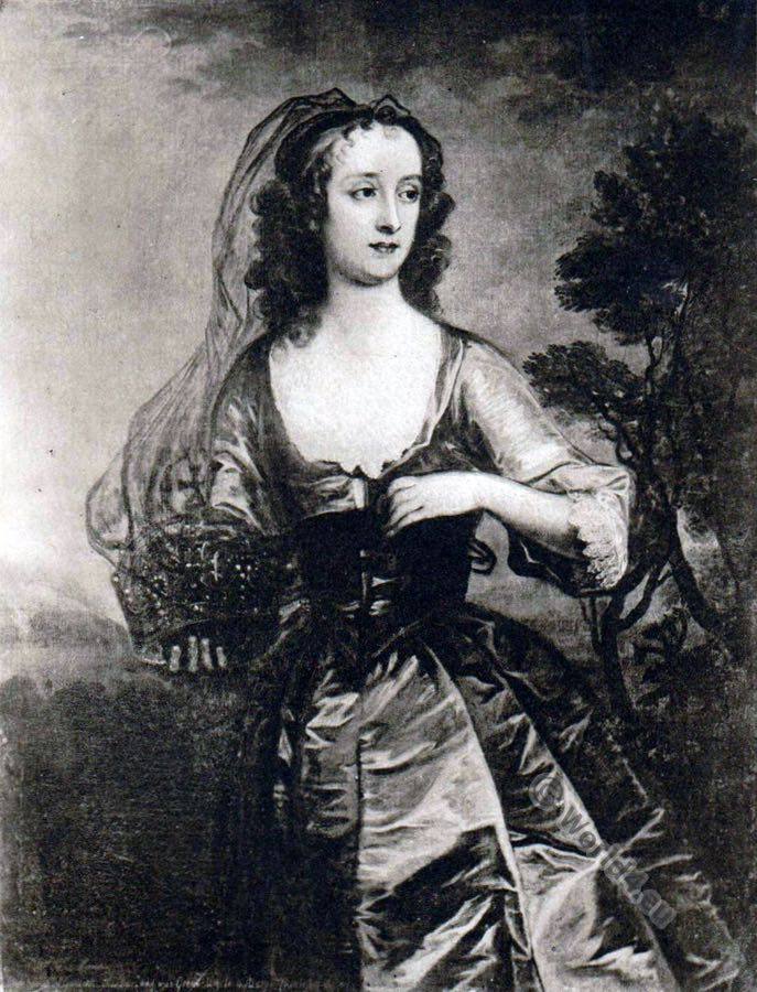 Jane Lane, Lady Fisher. Engand 17th century. Charles II.