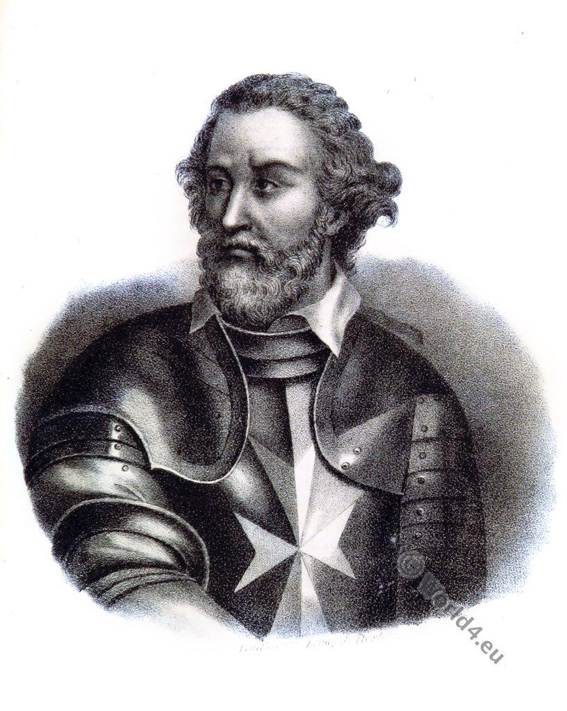 Hospitaller, Fra 'Jean de la Valette, Jean Parisot de La Valette, Grand Master, Military Order