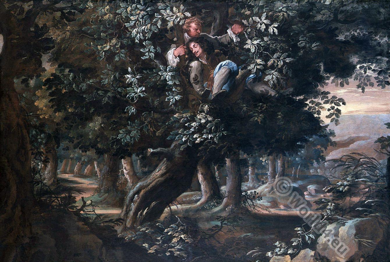 Royal, Oak, Charles II, Boscobel, flight, shelter,