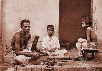 India, Dravidian, Sutars, Carpenters, Bengal,