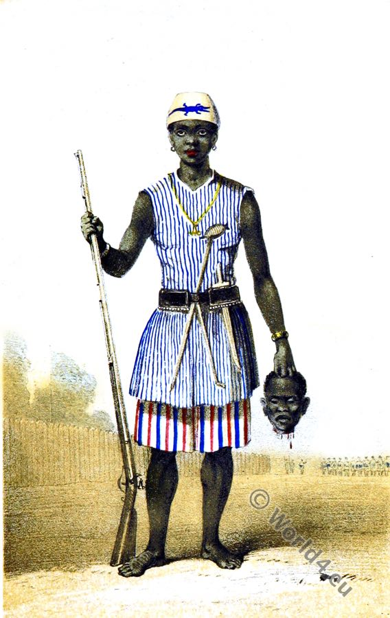 Amazon soldier. Dahomey Women Warriors. Africa military