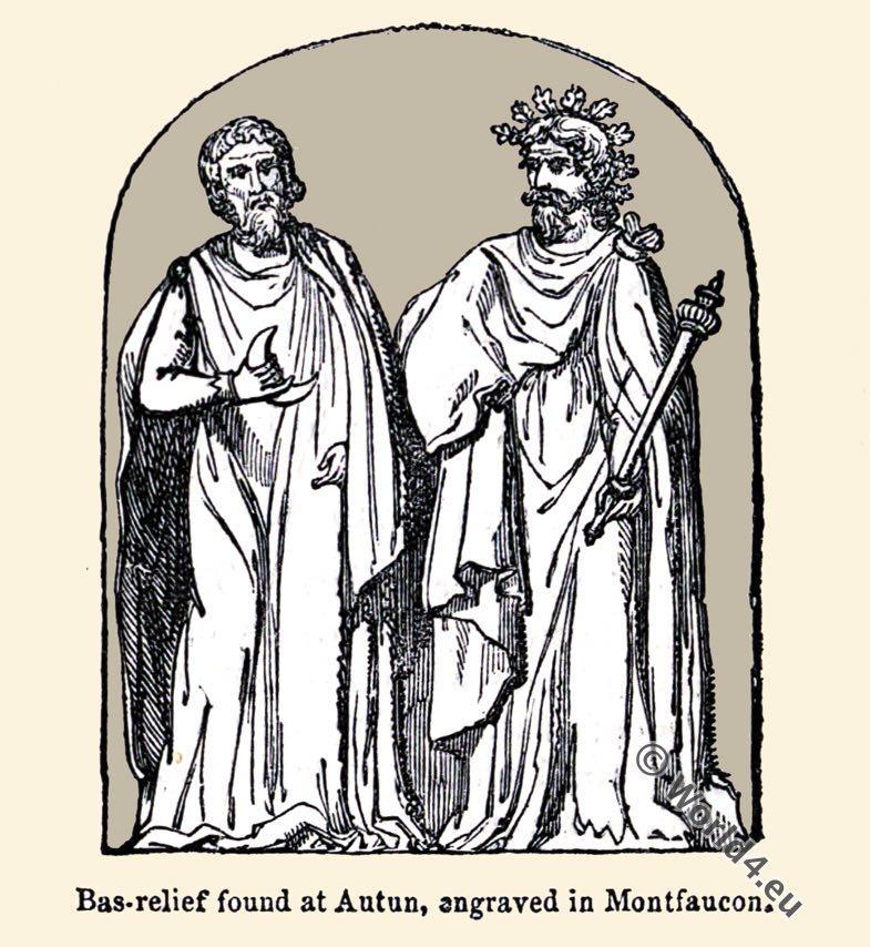 Celtic, Druids, Bas-relief, Montfaucon, Britons