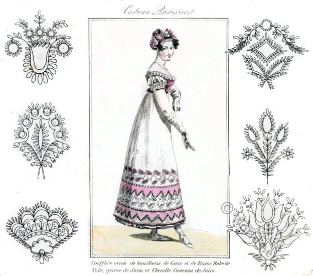 Embroidery designs. Empire, Regency