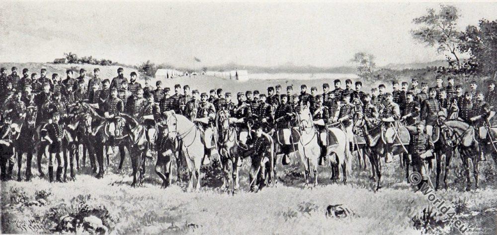 Light horse squadron, Milwaukee, Wisconsin. U.S. Military uniforms