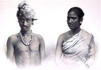 Muttuck, Asam, tribe, costume, habit, India, Asamese, Hindu-Ahom, Moamariah,