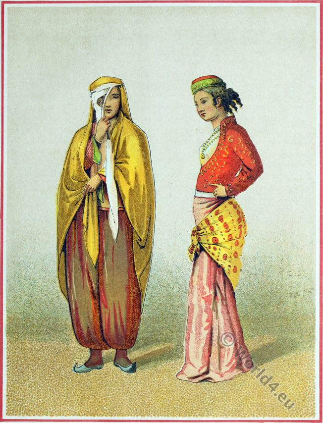 Persian House clothes, Persia 19th century, Iran, historic,traditional,oriental,costume,dress,