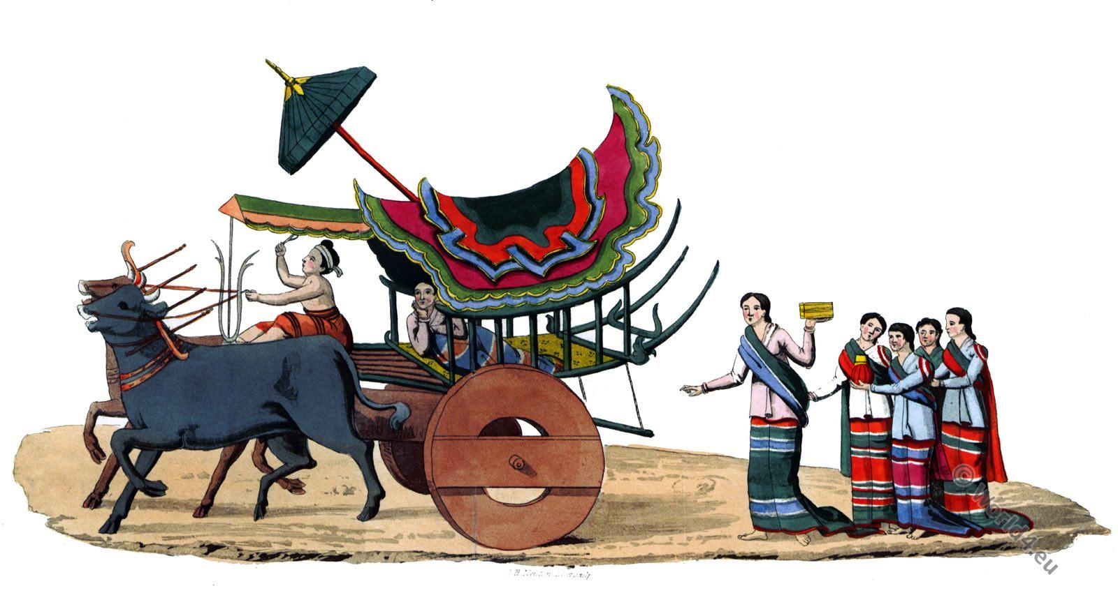 Whonghee, Myanmar, clothing, Burma, slave, attendants,