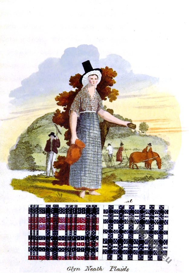 costume, traditional Plaids, Glynneath, Wales, Welsh,
