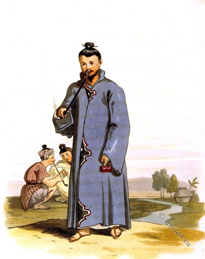 Loo Choo. Cloak. Okinawa. Japan costume. Traditional dress.