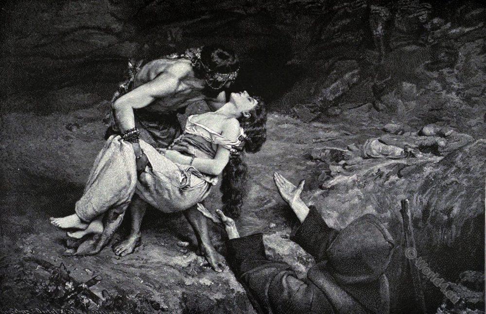 Atala. Francois Auguste Chateaubriand, Romantic novel, Romanticism fashion