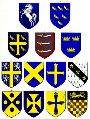 Anglo-Saxons, Coat of arms, kings. heraldry, History, England, Medieval Society