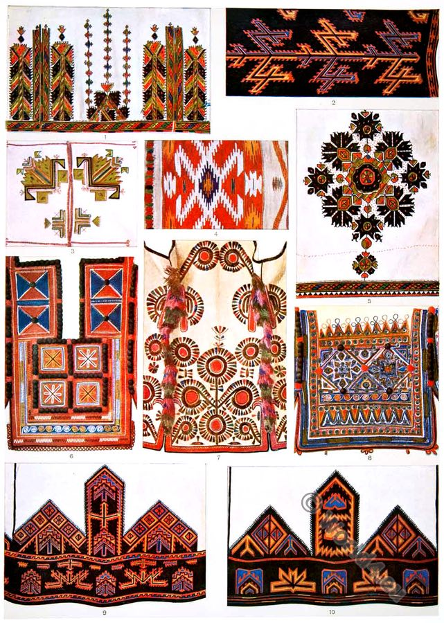 Macedonian, embroidery, clothing, patterns, Kelim, traditional,