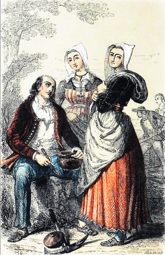 Pluvigner, Bretagne, robe traditionnelle