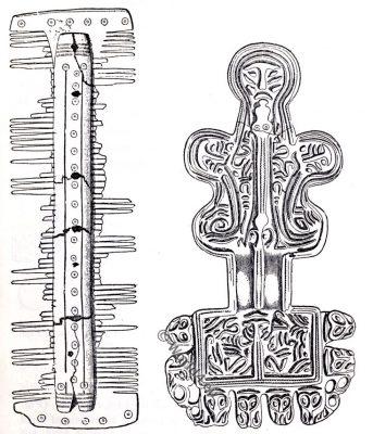 Saxon jewelry, Anglo-Saxon manuscript, costume, history, England medieval fashion