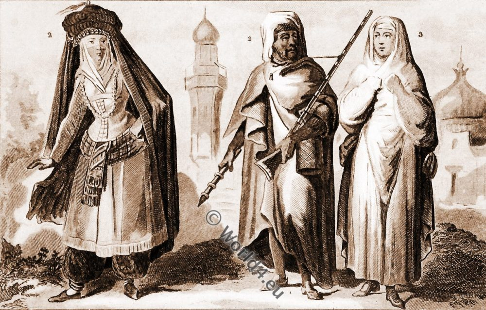 vêtements traditionnels, Arabe, Médine, femme, Mecque, Médine