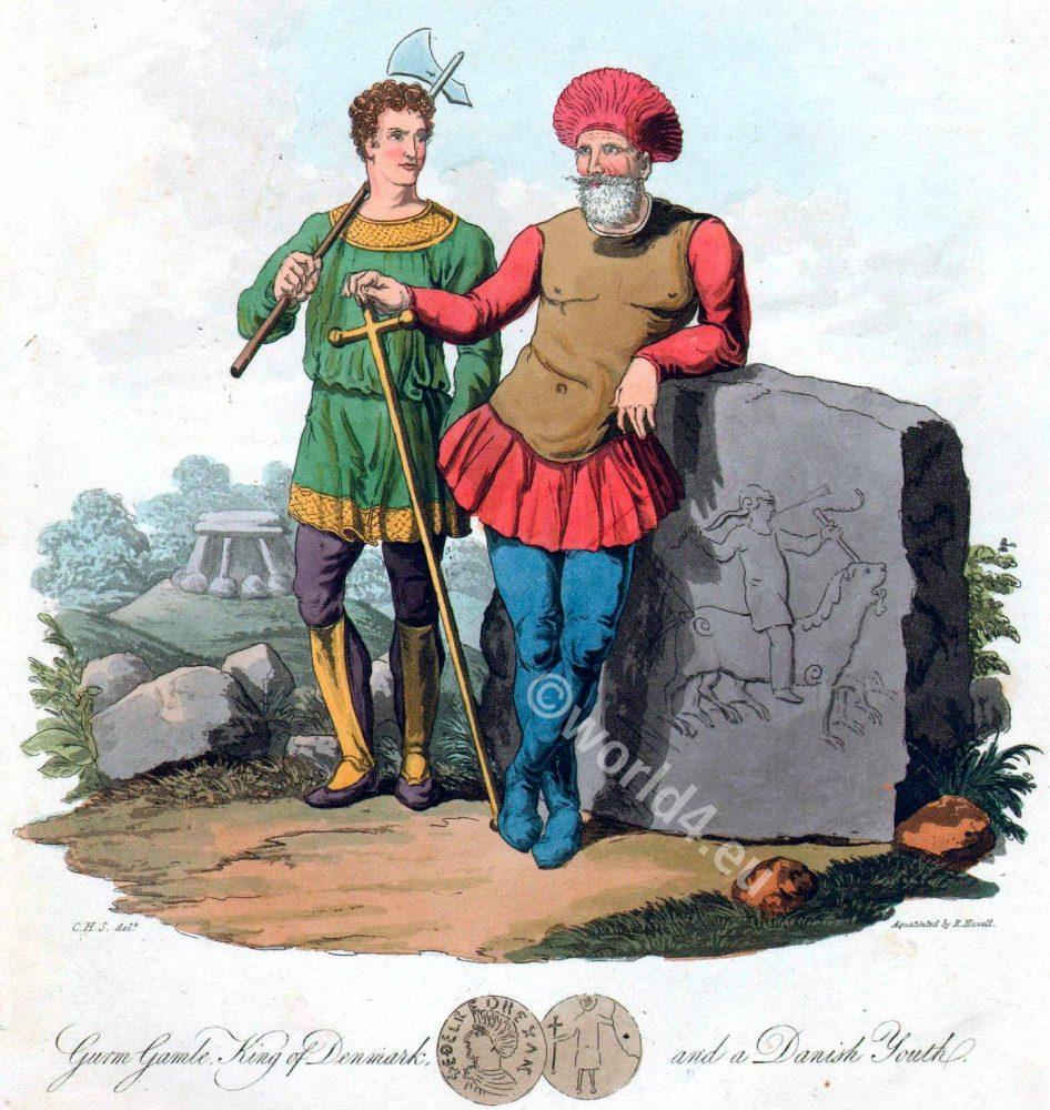 Viking, Gorm, Old, Languid, Gamle, costumes, dress, amor